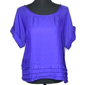 Mossimo royal blue short sleeve flowy top